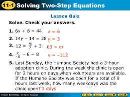 lesson 2 8 solving two step equations answers jennarocca
