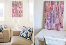 Living Room Refresh Semi Diy Colorful Canvas Art Pepper Design Blog