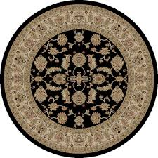 concord global trading jewel antep black 5 ft round area rug