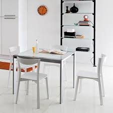 White Kitchen Chairs And Table Innonpender Beautiful House Within Contemporary  Kitchen Chairs Decorating ...