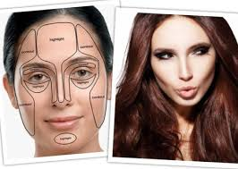 contour make up and round face image