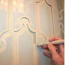 art deco detailing with stencils on art deco wall design ideas with home dzine add art deco detailing with stencils