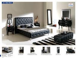 Leather Bedroom Furniture Nelly 621 Black M95 C95 B5 E96 E95 S95 Modern Bedrooms