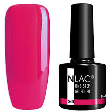 Nlac One Step Gel Lak 045 Neon červenorůžová