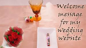 Welcome Message For My Wedding Website
