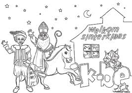 Welkom Sinterklaas Inkleuren En Andere Kleurplaten Gratis Op Wwwikbe