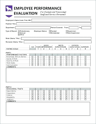 employee evaluation feedback of funny employee evaluation form template annual performance