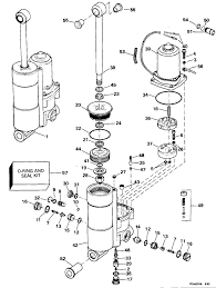 evinrude power trim tilt parts for 1994 50hp e50belere outboard motor reference numbers in this diagram can be found in a light blue row below scroll down to order each product listed is an oem or aftermarket equivalent