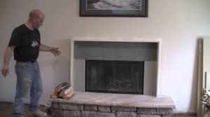 Build A Fake Fireplace How To Make A Fireplace Mantel And Surround Youtube