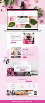 Essential Oil Website Design Bright Pink Branding Wordpress Website For Doterra