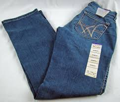 Details About Womens Wrangler Q Baby Wrq25br Plain Pocket Mid Rise Boot Cut Jeans