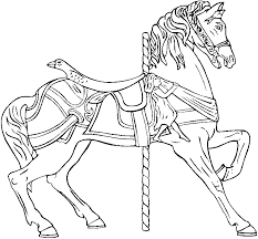 Coloring Free Printable Carousel Coloring Pages Horse Carousel