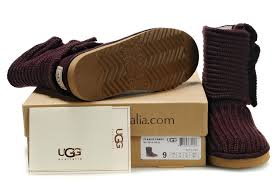 Ugg Wine Red-Classic Cardy Boots 5819 Outlet,ugg shoes,uggs bailey button  triplet ii,promo codes