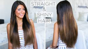 Strait Hair Style how to get shiny straight hair my straight hair routine youtube 4610 by wearticles.com