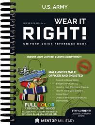 Wear It Right Us Army Uniform Quick Reference Book