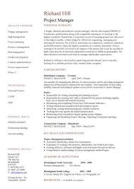 Project Management Skills Resume Delectable Project Manager CV Template Construction Project Management Jobs