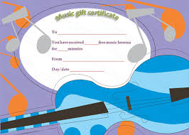 Guitar Lesson Gift Certificate Template Free Music Lessons Gift Certificate Template Beautiful Printable