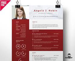 Professional Free Resume Template Psd Psddaddy Com
