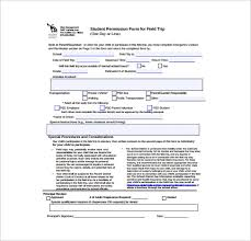 School Field Trip Permission Form Template Free 14 Permission Slip Samples In Word Pdf