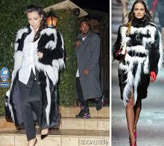 kim kardashian skunk lanvin skunk fur