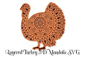 Vector files are available in ai, eps, and svg formats. Turkey Mandala 3d Layered Graphic By Digital Honey Bee Creative Fabrica