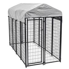 8x4x6 outdoor heavy duty playpen dog kennel w roof water resistant cover 0