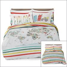 where the polka dots roam duvet bedding cover set reversible with pillowcases world map design full queen and twin size com