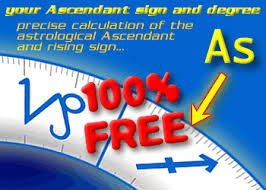 Ascendant Sign Chart Astrology Ascendant Calculator Online 100 Free Rising Sign