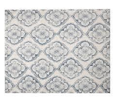 francis printed fl medallion rug pottery barn