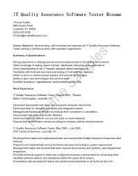 Quality Assurance Resume Objective Sample resume Quality Assurance Resume Objective 24