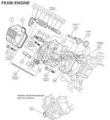engine fe key start cylinder head club car parts engine fe400 key start cylinder head