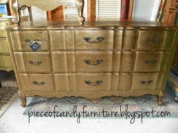 gold painted furniturePiece Of Candy Furniture French Kent Coffey Dresser wMirror