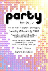 invitation for a party party invitation dhavalthakur com