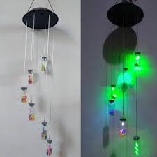 Zonne Energie Windgong Licht Lamp Opknoping Led Tuin Yard Kleur