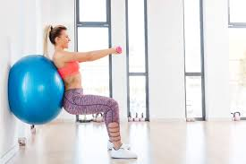 Free Exercise Ball Chart Beginner Ball Workout For Stability And Strength