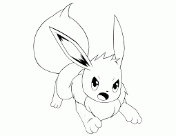 Small Picture Pokemon Printable Coloring Pages Eevee Eevee Coloring Pages Kids