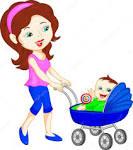 Картинки по запросу прогулка с ребенком в коляске