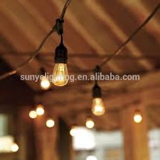 decorative string lighting. 48 feet outdoor commercial string lighting length 16awg2c sjtw cable 24pcs decorative