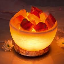 fair trade himalayan crystal salt serenity bowl lamp variant