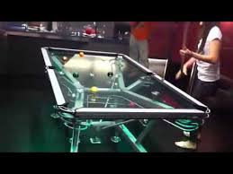 table pool. glass pool table is beyond awesome