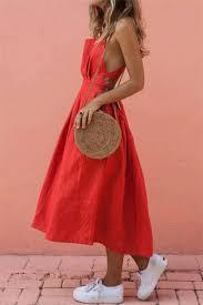 <b>Summer Sexy Strap</b> Button Pleated Dress – dresshelike