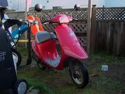 honda elite e es pal sb50 motor scooter guide honda pal pink front view