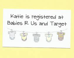 Baby Shower Registry Insert Card Awesome Free Baby Shower Registry