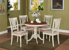 small white round dining table dark wood kitchen table round table with leaf