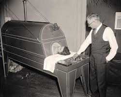 Image result for 1928 first iron lung in boston hospital
