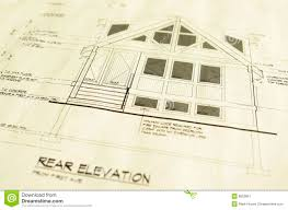 Small Picture House Home Blueprints Plans Royalty Free Stock Photography Image
