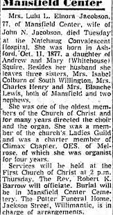 Obituary for Lulu L. Elnora Jacobson (Aged 77) - Newspapers.com