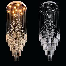 long crystal chandelier new luxury staircase long crystal chandelier art er designer chandeliers big industrial project long crystal chandelier