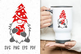 Nisse is derived from the name nils which is the scandinavian form of nicholas. source. Christmas Mug Design With Gnome Svg Graphic By Greenwolf Art Creative Fabrica