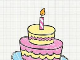 Birthday Cake Drawing Free Vector Free Vectors Ui Download